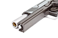 Modern .45 semi automatic handgun Royalty Free Stock Photos