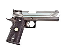 Modern .45 semi automatic handgun Stock Images
