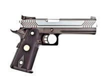 Modern .45 semi automatic handgun Stock Images