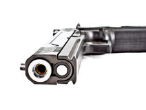 Modern .45 semi automatic handgun Royalty Free Stock Photography