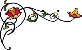 Modern 6. Vegetative element of design. Flower ornament Stock Image