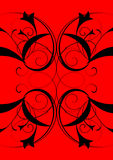 Modern. Bright, red ornament for an ornament of any surface Stock Photography