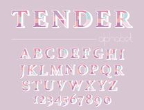 Modern abstract alphabet. Hipster vector font and alphabet Royalty Free Stock Photos