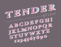 Modern abstract alphabet. Hipster vector font and alphabet Stock Photos