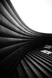 Modern abstract in architectural shapes. Black and white shot royalty free stock photo