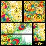 Modern abstract art. Moderne waterverfachtergrond Stock Foto's