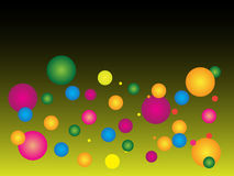 Modern abstract background with colorful dots with gradient. Yellow Royalty Free Stock Images