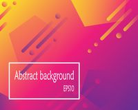 Modern abstract background with geometric shapes. Eps10 vector Royalty Free Stock Photos