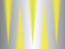 Modern abstract background with halftone effect triangles. Modern abstract background with halftone effect yellow triangles stock illustration