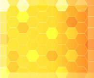 Modern abstract background with orange and yellow hexagon pattern Stock Photography