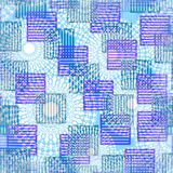 Modern abstract background with striped square in purple and green Stock Photography