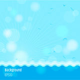 Modern abstract background in summer sea time. Theme Stock Photos