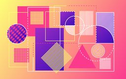 Modern abstract background. Trendy geometric shapes backdrop. Bright design for website, presentation, poster or banner royalty free illustration