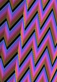 Modern abstract background with zig-zag lines in blue, pink and black. Vibrant colour combination. Vector background royalty free illustration