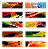 Modern abstract banner set Royalty Free Stock Photo