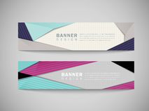 Modern abstract banner template set Stock Image