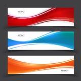 Modern abstract banner vectorontwerp Reeks van vectorontwerp eleme Royalty-vrije Stock Fotografie