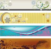 Modern Abstract Banners. Four modern, abstract, gungy banners perfect for headers and banners available as JPG and Vector format Royalty Free Stock Image