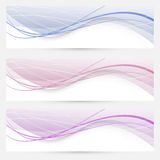 Modern abstract banners or web headers Royalty Free Stock Photo