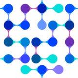 Modern abstract blauw naadloos patroon Stock Fotografie