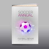 Modern abstract brochure as book. Football theme Royalty Free Stock Images