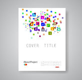 Modern abstract brochure book flyer design Royalty Free Stock Image