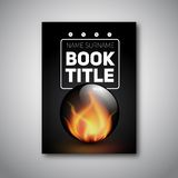Modern abstract brochure or flyer. Design template for book cover, Flame or fire in glass ball Stock Image