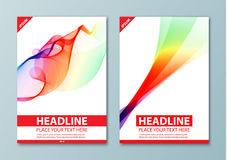 Modern abstract brochure, report or flyer design template Royalty Free Stock Photos