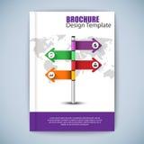 Modern abstract brochure vector design template Royalty Free Stock Photos