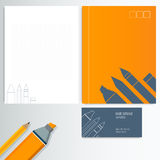 Modern Abstract Business - Card Set. Set folder documentation for business card vector Royalty Free Stock Image