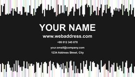 Modern abstract business card template design - identity card illustration with vertical stripes in light colored tones. Modern abstract business card template Royalty Free Stock Photos