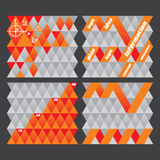 Modern Abstract Business Design. Set of concept geometrical backgrounds Vector Illustration
