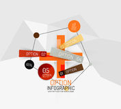 Modern abstract business geometric infographics Stock Photography