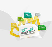 Modern abstract business geometric infographics Stock Images