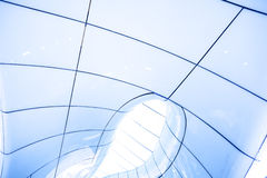 Modern abstract ceiling in blue. Horizontal view Stock Image
