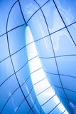 Modern abstract ceiling. In blue vertical view Royalty Free Stock Photography