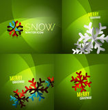 Modern Abstract Christmas Card set Stock Photo