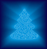 Modern abstract christmas tree. In editable vector format Royalty Free Stock Image