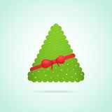 Modern abstract christmas tree background. Eps10 vector illustration Stock Images