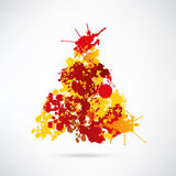 Modern abstract christmas tree background. Eps10 illustration Stock Illustration