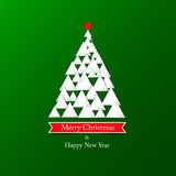 Modern abstract christmas tree background. Vector Royalty Free Stock Photos
