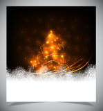 Modern abstract christmas tree, eps 10 Royalty Free Stock Images