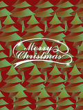 Modern abstract Christmas tree over red Stock Photo