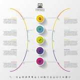 Modern abstract circle label. Infographic design template. Vector illustration Stock Image