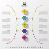Modern abstract cirkeletiket Het malplaatje van het Infographicontwerp Vector illustratie stock illustratie