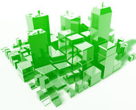 Modern abstract city Royalty Free Stock Images