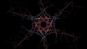 Modern abstract colored lines on black background. Silk symmetry series stock illustration