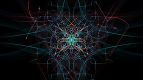 Modern abstract colored lines on black background. Silk symmetry series royalty free illustration