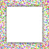 Modern abstract colorful bright confetti background with white f Stock Photography