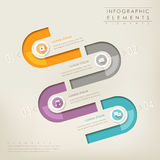 Modern abstract colorful paper infographic elements Stock Images